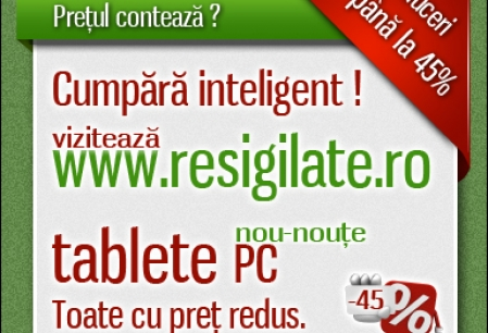 Anunt Imagine - Tablete PC ieftine pe Resigilate.ro