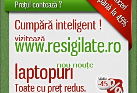 Anunt Imagine - Laptopuri ieftine pe Resigilate.ro