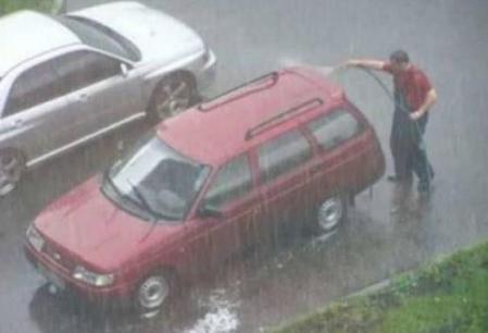 Vreme numai buna de spalat masina